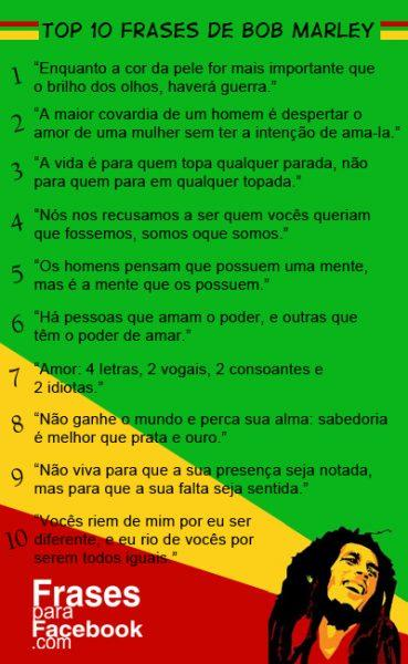 Top 10 Frases De Bob Marley Frases Poesias